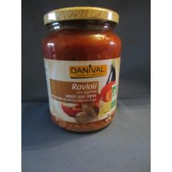 Ravioli bio aux légumes sauce cèpes