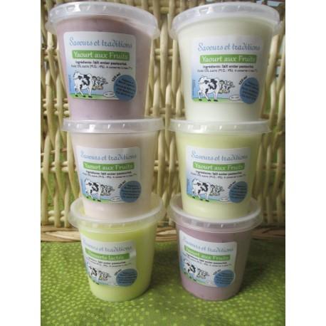 assortiment 6 yaourt fruits